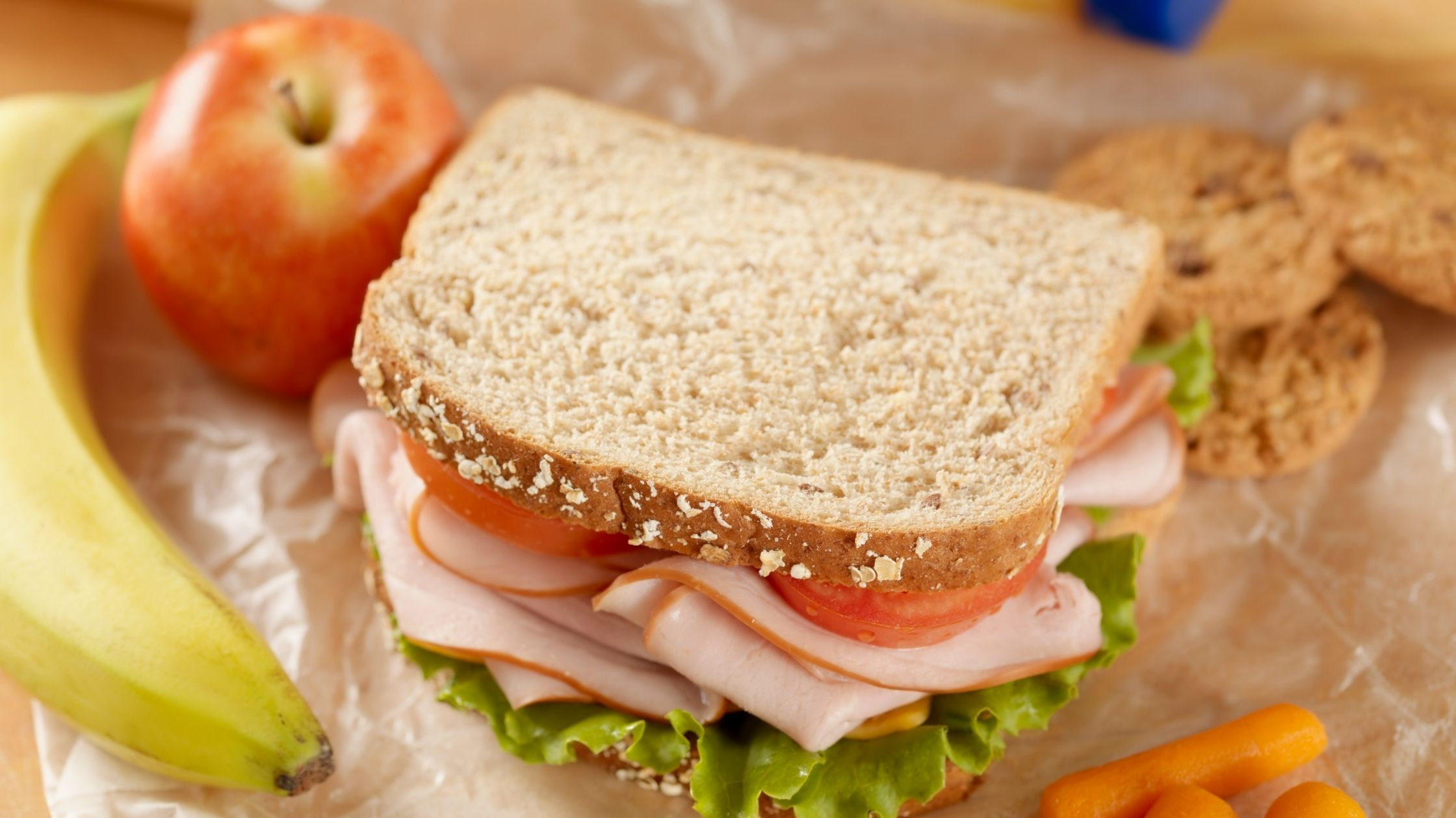 Sandwich and packed lunch